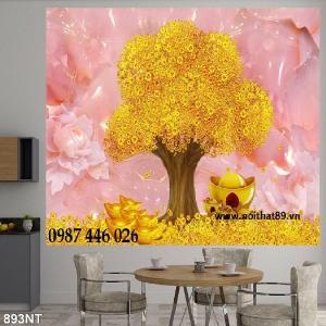 Tranh gạch men 3d cây lộc vàng HP6101