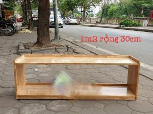 Kệ gỗ cao su MFD tiện dụng