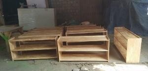 Kệ gỗ mầm non MFD tiện dụng