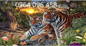 Gạch ốp tường trang trí 3d con hổ - 63CM