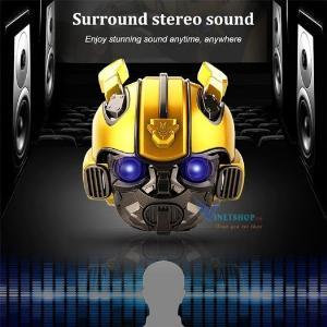 Loa Bluetooth Kiểu Dáng Transformers Bumblebee, Kiêm Đài FM, Âm Thanh Siêu Trầm Hay