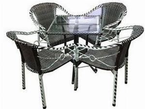 Bộ bàn ghế mây nhựa giá rẻ Ak 001