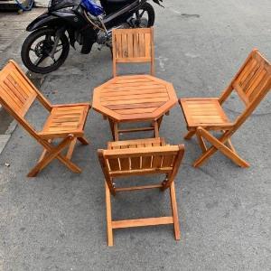 Bộ bàn ghế gỗ xếp cao cấp Ak001