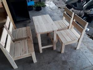 Bộ bàn ghế gỗ quán cóc cao cấp Ak 003