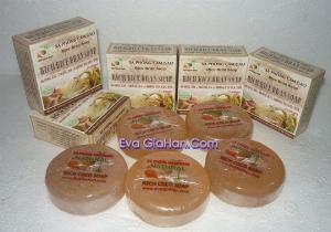 Xà phòng (bông) cám gạo dầu dừa nguyên chât Rice Bran Soap