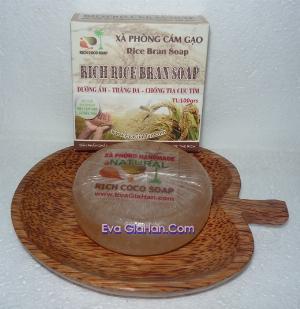 Xà phòng hỗ trợ trị mụn lưng cám gạo dầu dừa