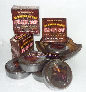 Sản xuất xà phòng cafe dầu dừa nguyên chất cafe Soap