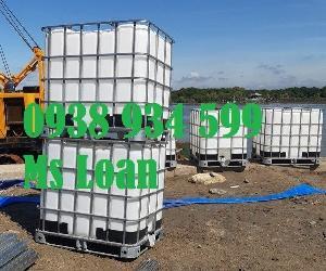 Tank ibc 1000 lít hàng đã qua sử dụng, bồn nhựa đựng hóa chất 1000l,téc nhựa cũ 1000l