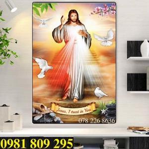 Gạch tranh - công giáo khổ đứng- gạch tranh 3d