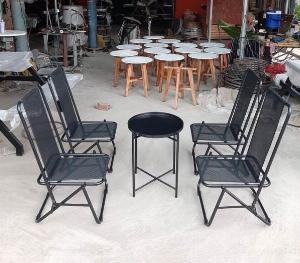 Bộ bàn ghế xếp vỉa hè cao cấp Ak001