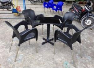 Bộ bàn ghế cafe nhựa cao cấp Ak 001