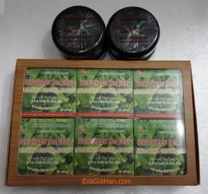 Sản xuất xà phòng trà xanh dầu dừa green tea Soap