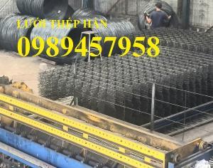 Sản xuất Lưới thép hàn phi 6, lưới đổ bê tông phi 6 ô 200x200, Lưới thép gân phi 6, phi 8