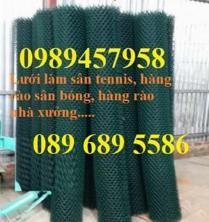 Lưới bọc nhựa b40 làm hàng rào, Lưới làm sân tennis, Lưới làm sân bóng