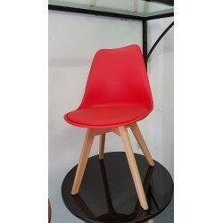 GHế nhựa chân gỗ có niệm cao cấp Ak009