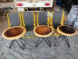 Bàn ghế gỗ me tây đủ kích cỡ giá sỉ tại