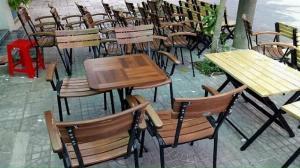 Bộ bàn ghế gỗ cao cấp nhập khẫu Ak002
