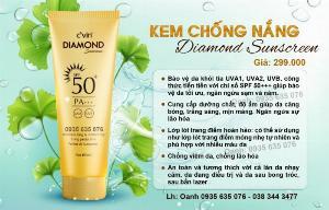 Kem chống nắng diamond cvin