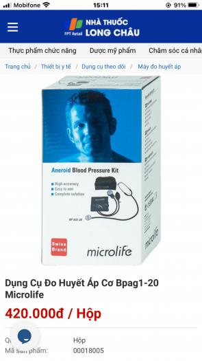 Máy đo huyết áp cơ Microsoft