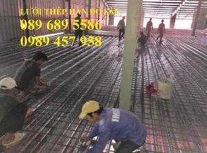 Lưới thép hàn phi 4 đổ sàn chống nóng, Lưới thép hàn chập phi 4 ô 150x150, 200x200, 250x250