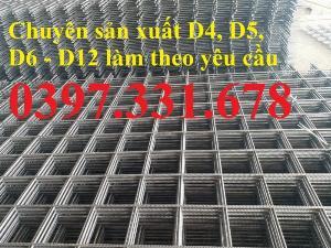 Lưới thép hàn, lưới thép hàn D4 a100x100 dạng tấm, dạng cuộn giá rẻ