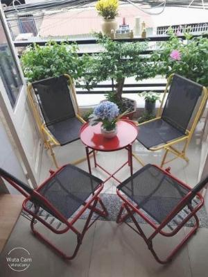 Bộ bàn ghế xếp mini sắt cao cấp Ak002