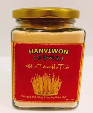 Nấm đông trùng hạ thảo HANVIWON dạng bột lọ 50g