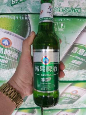 Bia Tsingtao chai 500ml, 12 chai