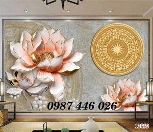 Gạch tranh ốp tường trang trí phòng khách 3d HP04636