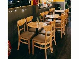 Bộ bàn ghế cafe gỗ giá rẻ