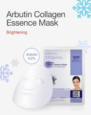 Mặt Nạ Dermal Chiết Xuất Arbutin Dưỡng Sáng Da Arbutin Collagen Essence Mask 23g - 10 Miếng