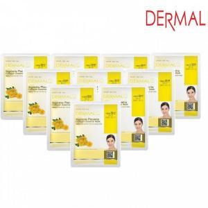 Mặt Nạ Dermal Chiết Xuất Nhau Thai Thực Vật Dưỡng Ẩm Da Vegetable Placenta Collagen Essence Mask 23g - 10 Miếng