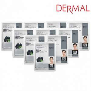 Mặt Nạ Dưỡng Chất Than Hoạt Tính + Collagen Dermal - 10 Miếng