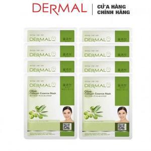 Mặt Nạ Dưỡng Chất Tinh Dầu Olive + Collagen Dermal - 10 Miếng