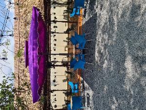 Dù vuông cafe lớn 3 mét màu tím giá rẻ n