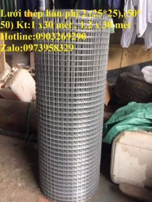 Lưới thép hàn mạ kẽm - thép đen phi 4 ( 50*50) lưới làm giàn lan , lưới hàng rào , lưới đổ sàn