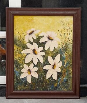 Tranh sơn dầu xưa cũ Kt 88x109cm Tác giả: Kim Oanh