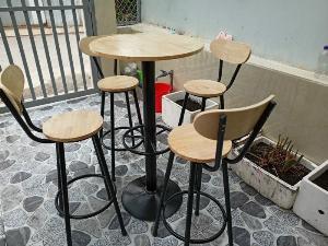 Bộ bàn ghế quầy bar cafe
