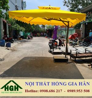Dù Vuông Lệch Tâm Cho Quán Cafe