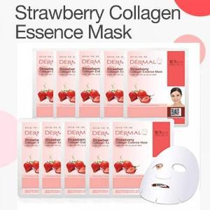 Mặt Nạ Dermal Tinh Chất Dâu Tây Dành Cho Da Mụn Strawberry Collagen Essence Mask 23g - 10 Miếng