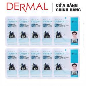 Mặt Nạ Dermal Tinh Chất Tảo Biển Dành Cho Da Mụn Seaweed Collagen Essence Mask 23g - 10 Miếng