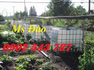 Bể nhựa IBC 1000 lít  chứa nước trong nông nghiệp