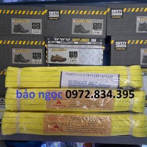 2021-04-12 20:53:50  3  Dây cáp vải cẩu hàng bản dẹp 3 tấn 6 mét hệ số an toàn 5:1 229,000