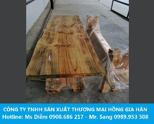 2021-04-13 07:51:36 Bộ Bàn Ghế Gỗ Thông Tự Nhiên Cho Quán Cafe 5,500,000
