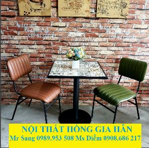 Bàn Ghế Caffe Mỹ Nghệ Cao Cấp Hgh895 Dành Cho Quán Cafe