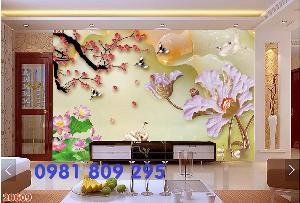 2021-04-13 08:50:20  6  Tranh gạch - hoa sen 3d - tranh ốp tường 1,200,000