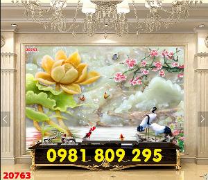 2021-04-13 08:50:20  4  Tranh gạch - hoa sen 3d - tranh ốp tường 1,200,000