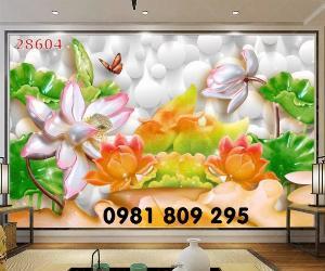 2021-04-13 08:50:20  3  Tranh gạch - hoa sen 3d - tranh ốp tường 1,200,000