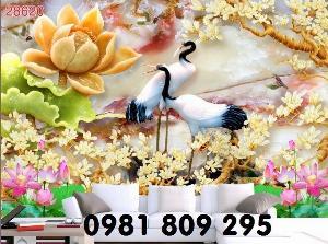 2021-04-13 08:50:20  2  Tranh gạch - hoa sen 3d - tranh ốp tường 1,200,000