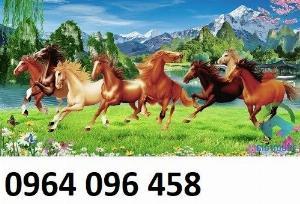 2021-04-13 08:52:38 Tranh treo tường 3d mẫu tranh ngựa phi - HD44 1,200,000